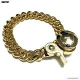 SEXTO - [Handmade] W-03 Chain N-TYPE bracelet Gold 팔찌 체인