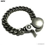 SEXTO - [Handmade] W-03 Chain N-TYPE bracelet Vintage Silver 팔찌 체인