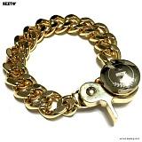 SEXTO - [Handmade] W-05 Chain N-TYPE bracelet Gold 팔찌 체인