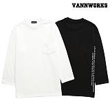 밴웍스 백포인트 쮸리 레터링 맨투맨 (VNAFTS305)_2colors 크루넥 스��셔츠