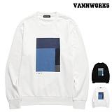 [특가할인]밴웍스 컬러블럭 나염 맨투맨(VNAFTS308)_2colors 크루넥 스��셔츠