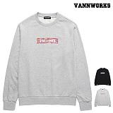 [특가할인]밴웍스 브릭 레터링 맨투맨(VNAFTS331)_2colors 크루넥 스��셔츠