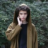 [디플로우]DEFLOW - OVERFIT HOOD WOOL COAT(KHAKI) 오버핏 후드 울 코트