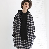 [디플로우]DEFLOW - MAC CHECK COAT(NAVY) 맥 타탄 체크 코트