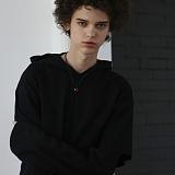 [디플로우]DEFLOW - LAYERED HOODIE LONGSLEEVE(BLACK) 후드티셔츠