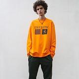 [디플로우]DEFLOW - 2BOX SWEAT SHIRT(ORANGE) 맨투맨 오렌지