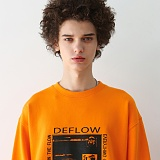 [디플로우]DEFLOW - POSTER SWEAT SHIRT(ORANGE) 맨투맨 오렌지