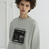 [디플로우]DEFLOW - POSTER SWEAT SHIRT(LIGHT MINT) 맨투맨 라이트 민트