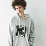 [디플로우]DEFLOW - POSTER HOODIE(LIGHT MINT) 후드티셔츠 라이트 민트