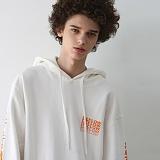 [디플로우]DEFLOW - DEFLOW SPREAD LOGO HOODIE(WHITE) 팔긴 후드티셔츠 화이트