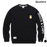 [앨빈클로]ALVINCLO MAR-823BCHIPS 맨투맨 크루넥 스��셔츠 레터링