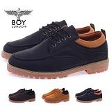 [보이런던]BOYLONDON -  402-zest 남성 가죽 캐주얼 로우 웰트화-3.5cm (블랙) 남자 제스트 랜드 워커 로퍼 구두 신발