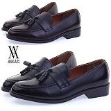 [에이벨류] 409-604 남성 클래식 태슬 로퍼-3cm(블랙.브라운) 남자 604 구두 포멀 신발 정장 코디 가죽