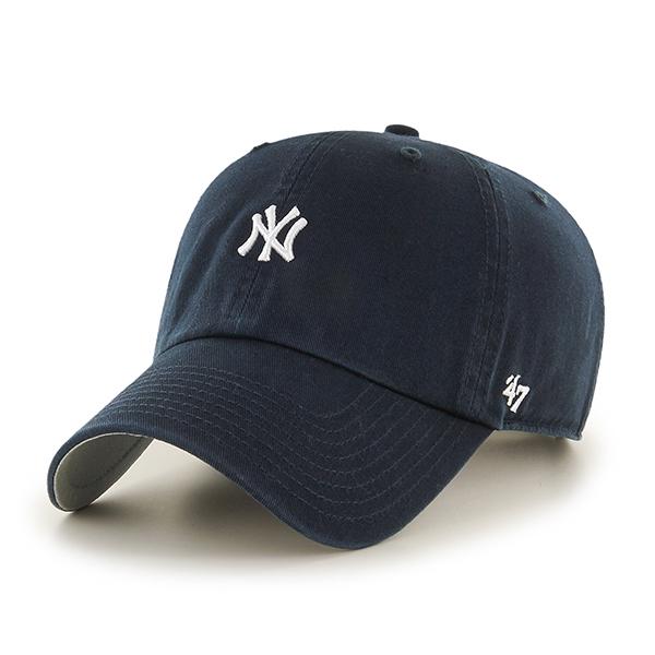 47브랜드 - MLB모자 뉴욕 양키즈 네이비 미니로고 볼캡 야구모자