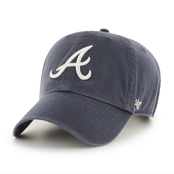 47브랜드 - MLB모자 아틀란타 브레이브스 네이비 빈티지 볼캡 야구모자