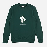 [위씨]WISSY - FLOWER MTM (GREEN) 크루넥 스��셔츠 맨투맨