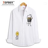 탑보이 - 심플 스마일 프린팅 긴팔셔츠 (ZT093) 셔츠