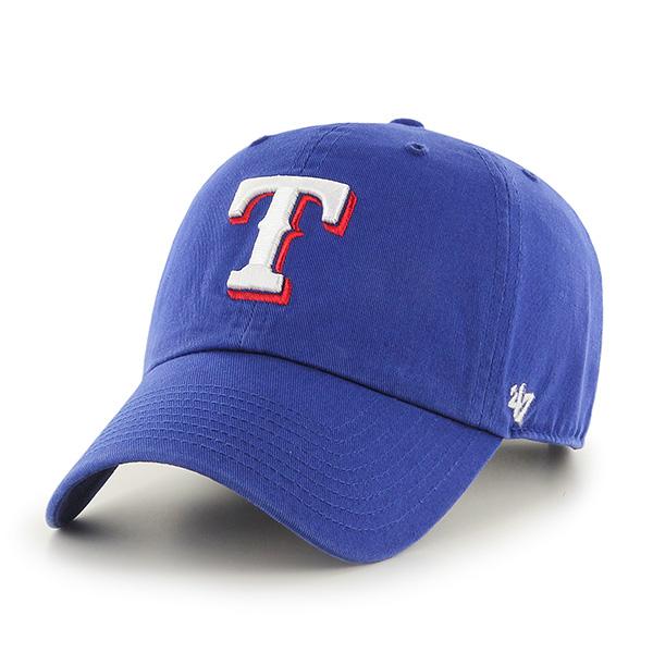 47브랜드 - MLB모자 텍사스 레인져스 블루 볼캡 야구모자