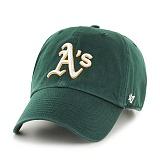 47Brand - MLB모자 오클랜드 애슬레틱스 그린 볼캡 야구모자