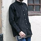 [쟈니웨스트] JHONNYWEST - Corduroy Over Shirts (Black)  코듀로이 오버핏 셔츠