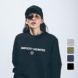 [언리미트]Unlimit - Sct Crewneck 52 (AF-D052)_4color 기모 맨투맨 크루넥 스��셔츠
