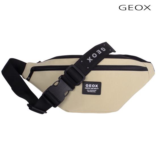 [제옥스]GEOX - LOY WAISTBAG (BEIGE) 로이웨이스트백 베이지_가방 데이백 무지힙색/라이딩백