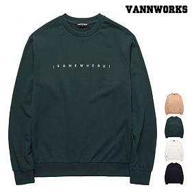 [특가할인]밴웍스 SOMEWHERE 맨투맨(VNAFTS301)_4colors 크루넥 스��셔츠