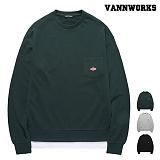 [특가할인]밴웍스 드롭 숄더 레이어드 맨투맨(VNAFTS306)_3colors 크루넥 스��셔츠