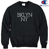 [Champion] 챔피온 CREW BKLYN NY - BLACK 기모맨투맨 정품 국내배송