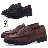 [에이벨류] 443-slaeks 남성 패니 무광 캐주얼 로퍼-3cm (블랙.브라운) 남자 슬랙스 구두 신발 코디 가을