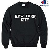 [Champion] 챔피온 CREW NEW YORK CITY 기모맨투맨 BLACK