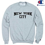 [Champion] 챔피온 CREW NEW YORK CITY 기모맨투맨 GREY