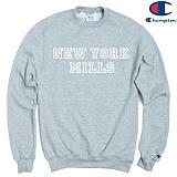[Champion] 챔피온 CREW NEW YORK MILLS 기모맨투맨 GREY 정품 국내배송