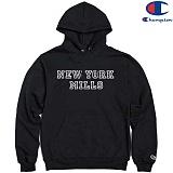 [Champion] 챔피온 Pullover Hood NEW YORK MILL BLACK 기모후드티 정품 국내배송