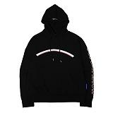 [슈퍼비젼]supervision - RAINBOW HOODY BLACK - [POP] 레터링 후드티셔츠