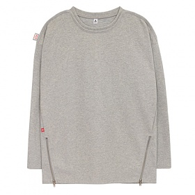 [에이비로드]ABROAD - Point Zip T-shirts (gray) 긴팔티 롱슬리브