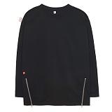 [에이비로드]ABROAD - Point Zip T-shirts (black) 긴팔티 롱슬리브