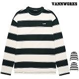 밴웍스 올리브 스트라이프 티셔츠(VNAFTS310)_2colors