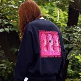 [매스노운]MASSNOUN  데스트로이 맨투맨 티셔츠 MFSCR001-NV
