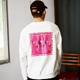 [매스노운]MASSNOUN  데스트로이 맨투맨 티셔츠 MFSCR001-WT