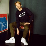 [매스노운]MASSNOUN  심볼 맨투맨 티셔츠 MFSCR003-NV