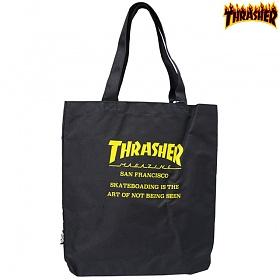[Thrasher] 트래셔재팬 에코백 BLK/YELLOW
