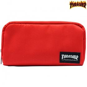 [Thrasher] 트래셔재팬 라벨 파우치 RED