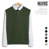 [뉴비스] NUVIIS - 램스울 헨리넥 니트 조끼 (DS052VS) 베스트