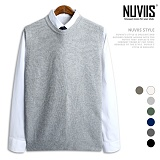 [뉴비스] NUVIIS - 울 삼각 트임 니트 조끼 (DS050VS) 베스트