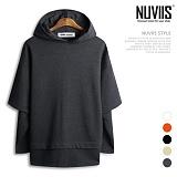 뉴비스 - 베이직 네임 오버핏 후드 티셔츠(RW024HD)