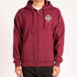 [도프]DOPE Monogram Zip-Up Hoodie (Burgundy)후디 후드집업