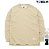 [크루클린] CROOKLYN 트임 오버핏 맨투맨 MRL448 크루넥 스��셔츠