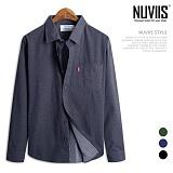 [뉴비스] NUVIIS - 쟈가드 도트 루즈핏 긴팔셔츠(DS043SH)