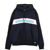 [유나이티드와펜] UNITEDWAPPEN BASIC OVERSIZE HOODY (BLUE) 후드 티셔츠
